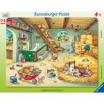 Ravensburger-05092 Frame Puzzle - Farm Animals