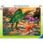 Ravensburger-05094 Frame Puzzle - Dinosaurs