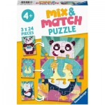Ravensburger-05137 Mix and Match Puzzles - Funny Animals