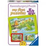 Ravensburger-05138 Frame Puzzle - Small Garden Animals (3x6 Pieces)