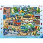 Ravensburger-05142 Frame Puzzle - Construction Site