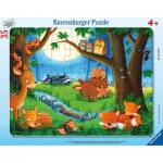 Ravensburger-05146 Frame Puzzle - Little Animals Go to Bed