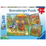 Ravensburger-05150 3 Puzzles - Middle Age