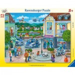 Ravensburger-05176 Frame Puzzle - Police Operation with Hannah and Erik