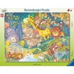 Ravensburger-05177 Frame Puzzle - It's Raining