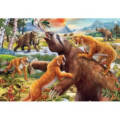 Ravensburger-05179 2 Puzzles - Dinosaures