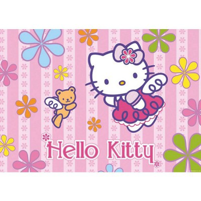 Ravensburger-05261 Jigsaw Puzzle - 24 Pieces - Maxi - Hello Kitty and the Little Bear