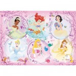 Ravensburger-05296 Jigsaw Puzzle - Large - 60 Pieces - Disney Princess Portrait