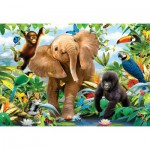 Ravensburger-05347 Giant ground Puzzle - the Jungle