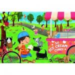 Ravensburger-05448 Floor Puzzle - Dogs Love Ice Cream