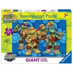 Ravensburger-05470 Floor Puzzle - Ninja Turtles