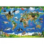 Ravensburger-05555 Floor Puzzle - Animals around the World