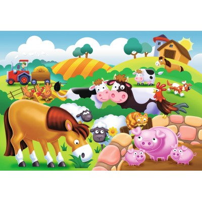 Ravensburger-05609 My First Outdoor Puzzles - Dear Farm Animals