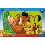 Ravensburger-06008 Frame Puzzle - 15 Pieces - The Lion King : Simba the Lion Cub