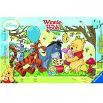 Ravensburger-06018 Jigsaw Puzzle - 15 Pieces - Frame - Winnie the Pooh : Honey Day