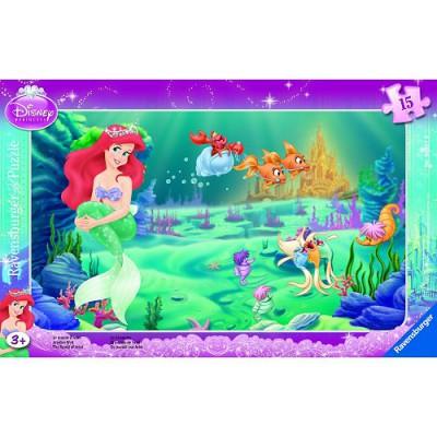 Ravensburger-06031 Jigsaw Puzzle - 15 Pieces - Frame - Ariel's World