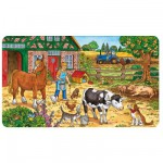 Ravensburger-06035 Frame Jigsaw Puzzle - 15 Pieces : Life at the Farm