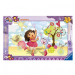 Ravensburger-06042 Jigsaw Puzzle - 15 Pieces - Frame Puzzle : Dora Having Fun