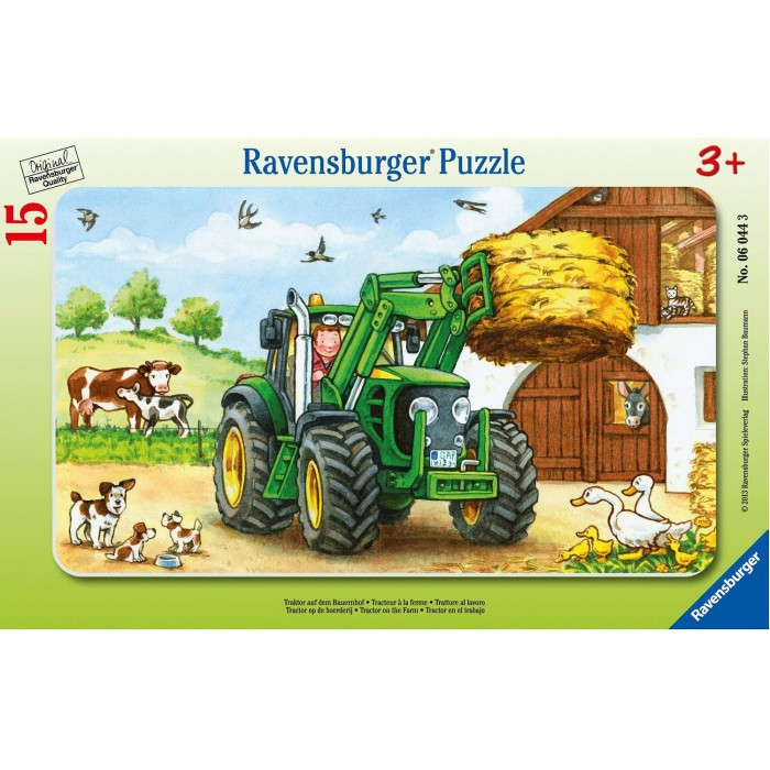 Jigsaw Puzzle - 15 Pieces - Frame Puzzle : Tractor at the Farm