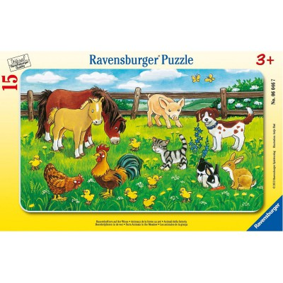 Ravensburger-06046 Jigsaw Puzzle - 15 Pieces - Frame Puzzle : Farmyard Animals