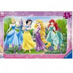 Ravensburger-06047 Jigsaw Puzzle - 15 Pieces - Frame Puzzle : Princesses Walk