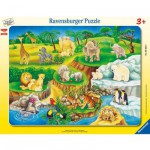 Ravensburger-06052 Jigsaw Puzzle - 14 Pieces - Frame Puzzle : At the Zoo
