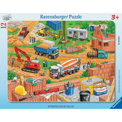 Ravensburger-06058 Frame Puzzle - Works on the Site construction