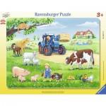 Ravensburger-06117 Frame Puzzle - Farm Animals