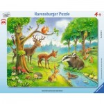 Ravensburger-06138 Frame Jigsaw Puzzle - Animals