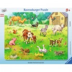 Ravensburger-06143 Frame Jigsaw Puzzle - My Favorite Animals