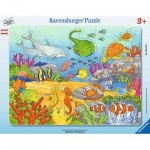 Ravensburger-06149 Frame Jigsaw Puzzle - Merry Sea Creatures