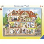 Ravensburger-06154 Frame Puzzle - Look into the House