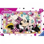 Ravensburger-06158 Frame Jigsaw Puzzle - Minnie and Figaro