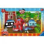 Ravensburger-06160 Frame Puzzle - Helden der Stadt