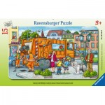Ravensburger-06162 Frame Puzzle - On the Way to the Garbage Disposal
