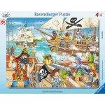 Ravensburger-06165 Frame Puzzle - Pirates