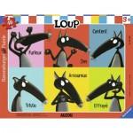Ravensburger-06166 Frame Puzzle - Loup