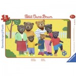 Ravensburger-06167 Frame Puzzle - Little Brown Bear