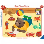 Ravensburger-06168 Frame Puzzle - Little Brown Bear