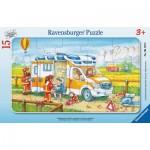 Ravensburger-06170 Frame Puzzle - Ambulance