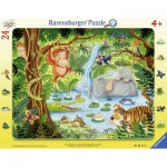 Ravensburger-06171 Frame Puzzle - Jungle