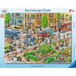 Ravensburger-06172 Frame Puzzle - City Travel