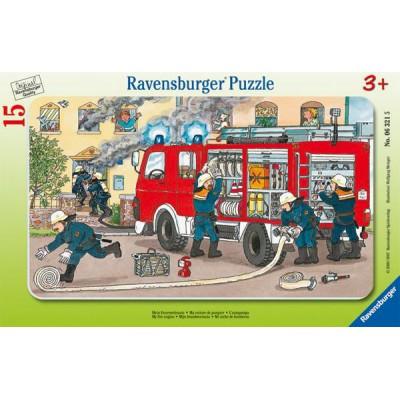 Ravensburger-06321 Frame Puzzle - Firemen
