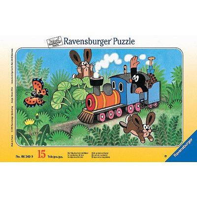 Ravensburger-06349 Jigsaw Puzzle - 15 Pieces - Little Mole : Engine Driver