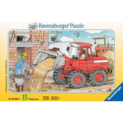 Ravensburger-06359 Jigsaw Puzzle - 15 Pieces - My Excavator
