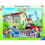 Ravensburger-06393 Jigsaw Puzzle - 39 Pieces - Frame - Firemen in Action