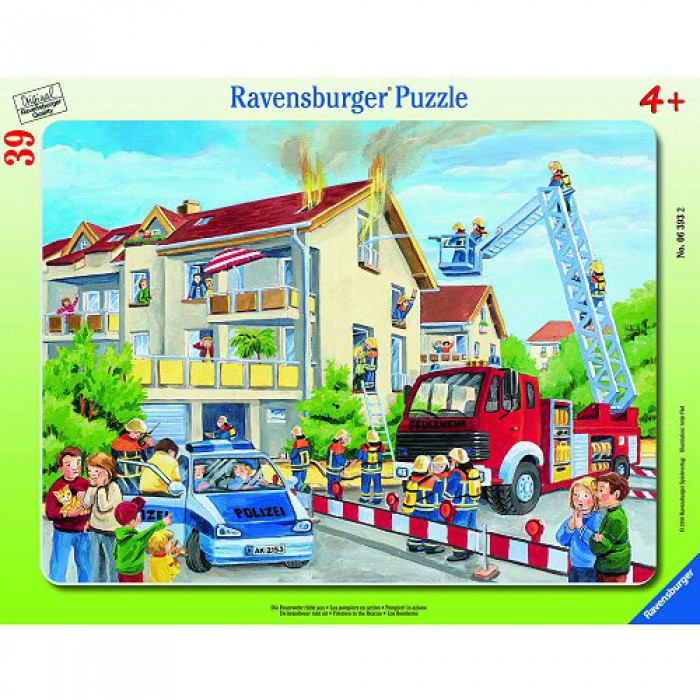 Jigsaw Puzzle - 39 Pieces - Frame - Firemen in Action