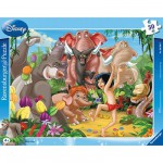 Ravensburger-06398 Jigsaw Puzzle - 30 Pieces - The Jungle Book : Mowgli and Baloo