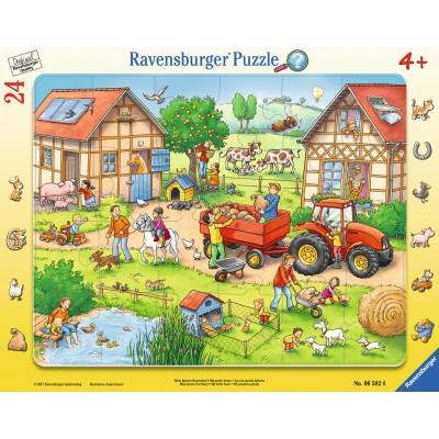 Ravensburger-06582 Frame Jigsaw Puzzle - The Farm