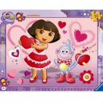 Ravensburger-06611 Jigsaw Puzzle - 35 Pieces - Frame Puzzle : Adorable Dora